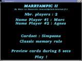 Menu general pour choix des joueurs, du thème de cartes, ...